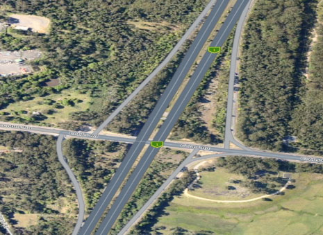 Wyong Road F3 Interchange, Mardi 2